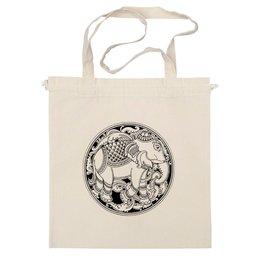 """Сумка """"Индийский слон"""" - животные, рисунок, слон, буддизм, индуизм"""