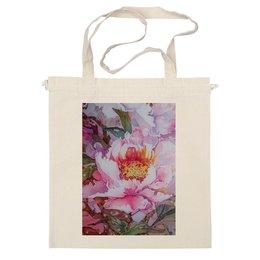 """Сумка """"цветение китайского пиона"""" - лето, цветы, в подарок, flowers, искусство, пионы, peony, китайский пион, сад пионов, ручная роспись"""