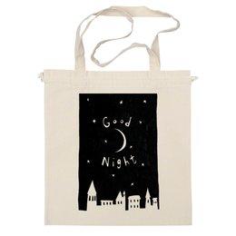 """Сумка """"Good night"""" - stars, рисунок, sky, луна, сумка, moon, good night"""