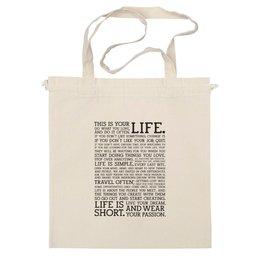 """Сумка """"This is your LIFE BAG"""" - арт, life, жизнь, в подарок, экосумка"""