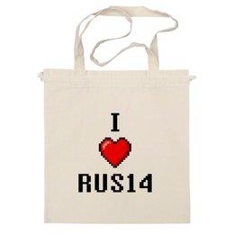 "Сумка ""I Love RUS14 "" - любовь, rus14, rusich production"