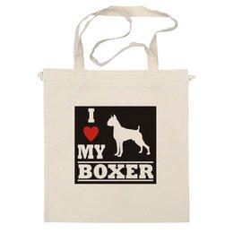 "Сумка ""boxer"" - love, i love, боксёр, я люблю, boxer"