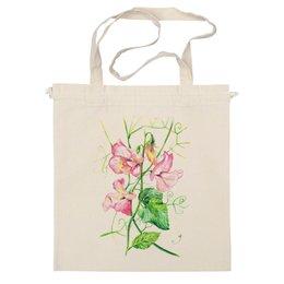 """Сумка """"Цветы душистый горошек"""" - арт, цветы, весна, акварель, spring, горошек"""