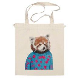 """Сумка """"Красная панда"""" - арт, red, девушке, panda, animal, красная панда, dressed"""