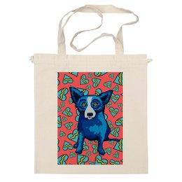 "Сумка ""Синий Пес"" - сердце, dog, пес, собака, blue dog"