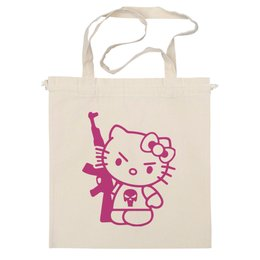 "Сумка ""Hello Kitty AK-47"" - hello kitty, ak 47, angry kitty"