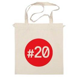 """Сумка """"#20 красный круг"""" - навальный четверг, navalny, двадцать"""