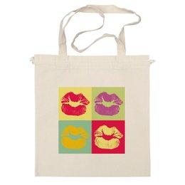 """Сумка """"Губы поп-арт"""" - губы, поцелуй, стиль, поп арт, рисунок"""