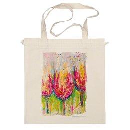 """Сумка """"""""Tulips"""""""" - арт, лето, цветы, оригинально, пикник, авторский принт, бокалы, репродукция, kosa"""