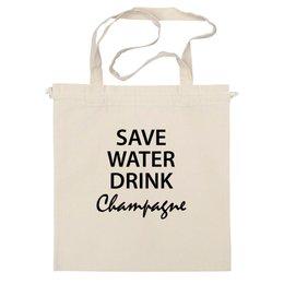 """Сумка """"Save Water"""" - champagne"""