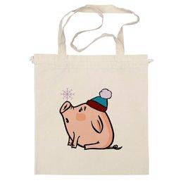 """Сумка """"Новогодняя свинка"""" - новый год, new year, свинка, свинья, 2019"""