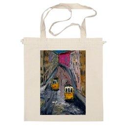 """Сумка """"Лиссабонские трамваи"""" - арт, в подарок, city, tram, trolley"""