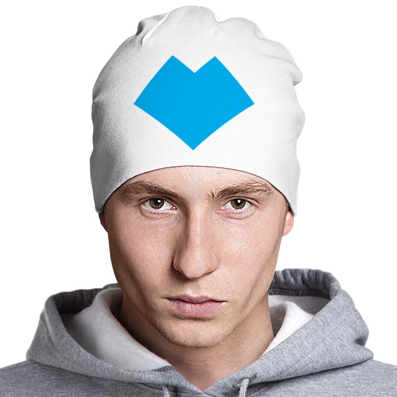Printio Голубое сердце танграм шапка классическая унисекс printio сердце