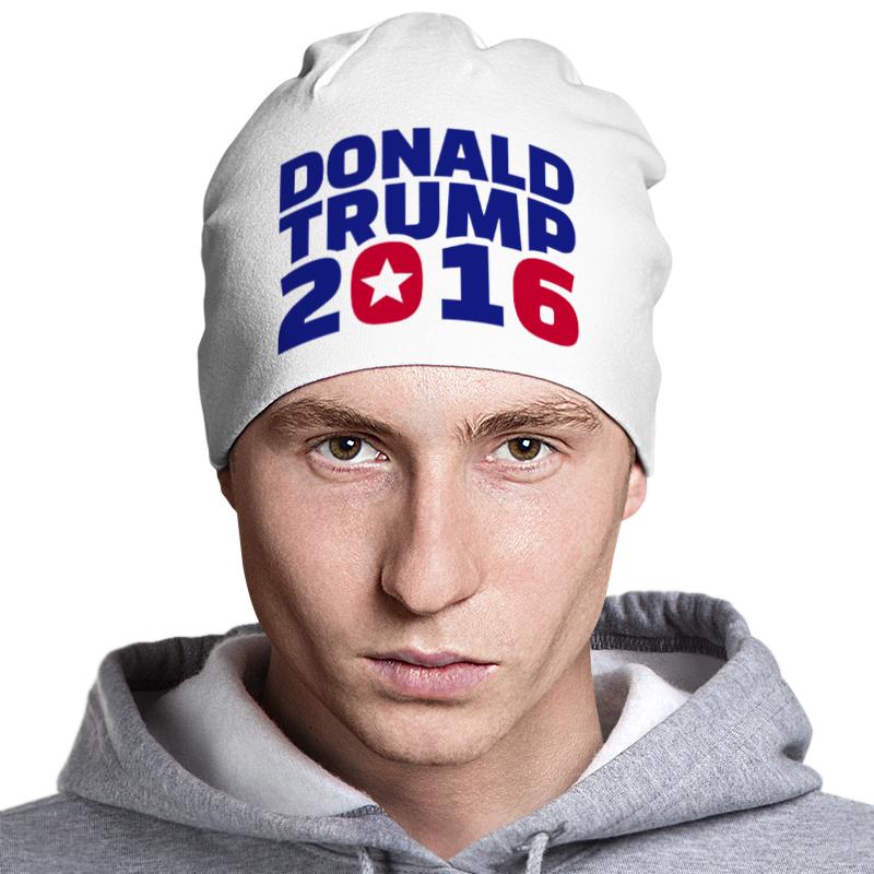 Шапка классическая унисекс Printio Trump 2016 цена и фото