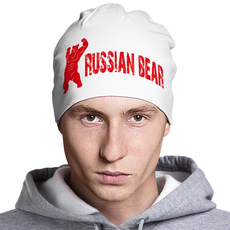 Шапка классическая унисекс Printio Russian bear шапка классическая унисекс printio армия
