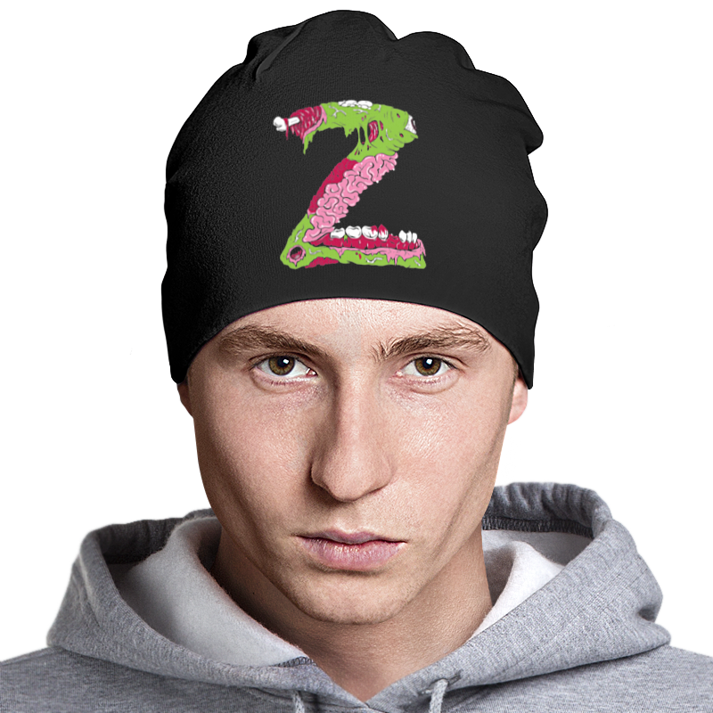 Шапка классическая унисекс Printio Z zombie шапка классическая унисекс printio мото 2017