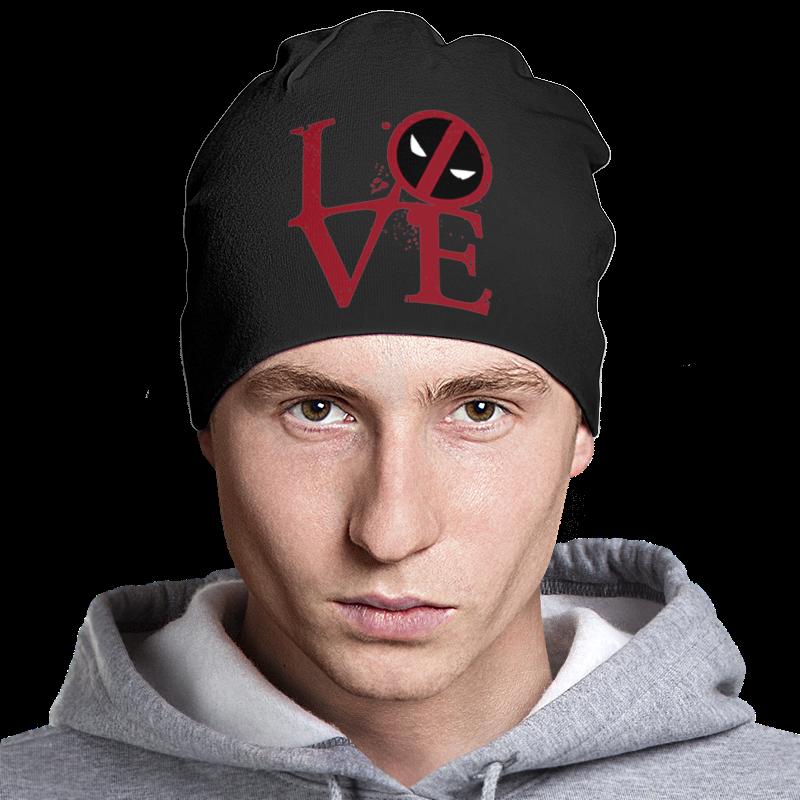 Шапка классическая унисекс Printio Deadpool love