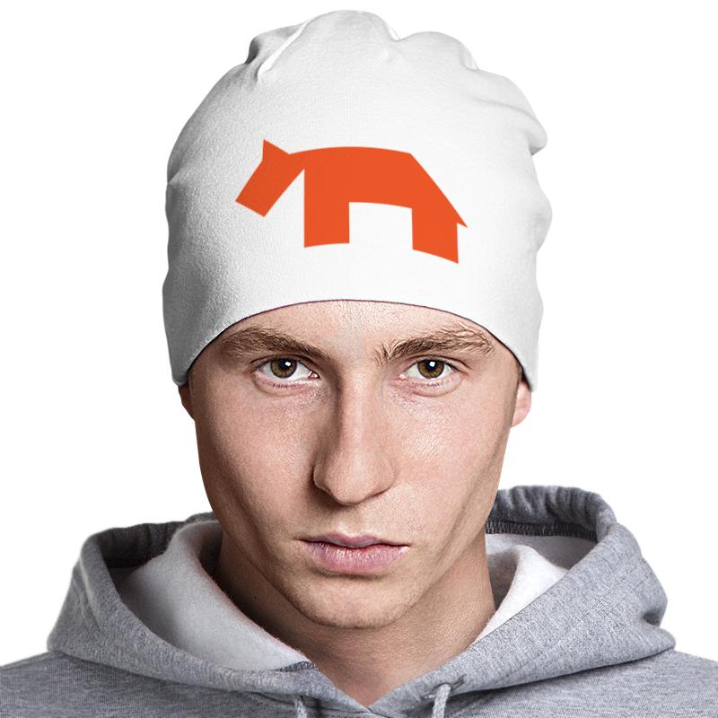 Шапка классическая унисекс Printio Оранжевая собака танграм