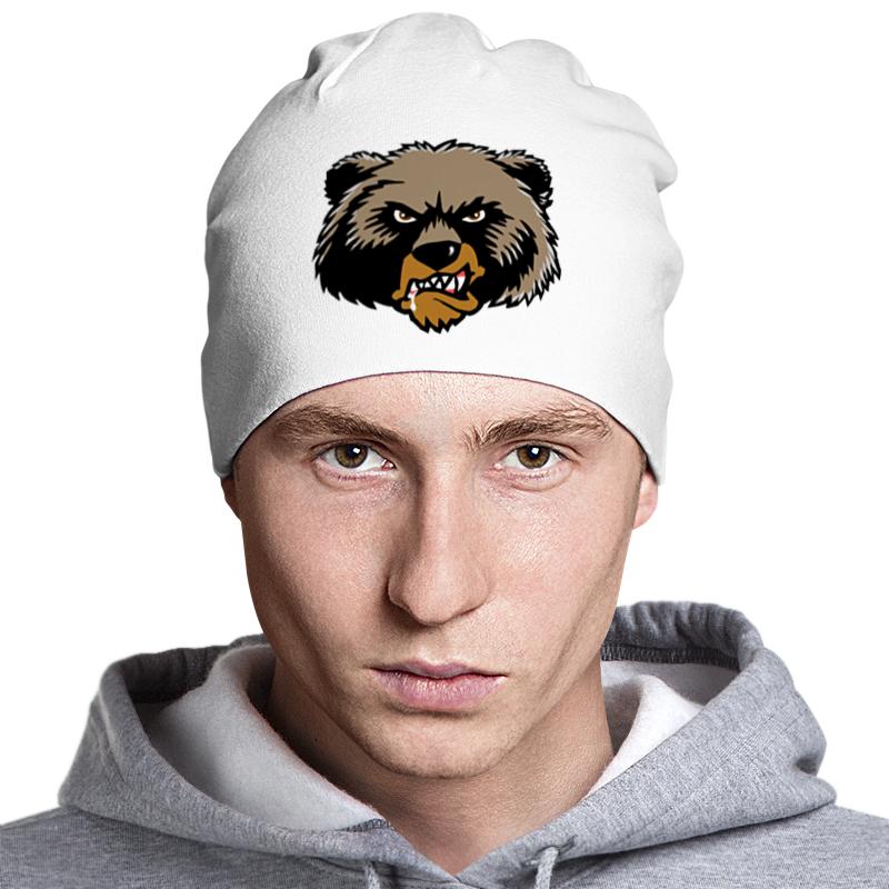 Шапка классическая унисекс Printio Медведь