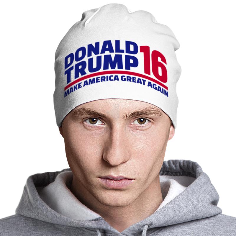 Шапка классическая унисекс Printio Trump - america great