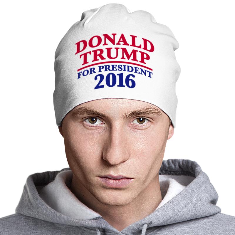 Шапка классическая унисекс Printio Donald trump 2016 trump donald john trump think like a billionaire