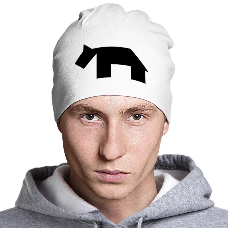 Шапка классическая унисекс Printio Чёрная собака танграм снегокат nika тимка спорт тс 2 rabbit