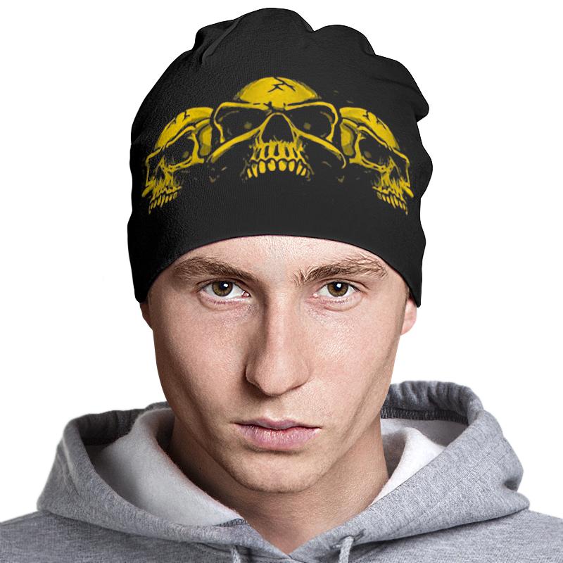 Шапка классическая унисекс Printio Skull art