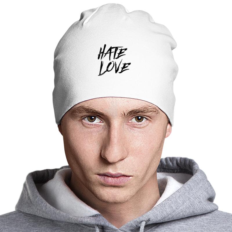 Шапка классическая унисекс Printio Рэпер face hate love кепка printio рэпер face hate love