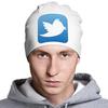 """Шапка классическая унисекс """"Twitter"""" - знак, twitter, твиттер, логотип, символ"""