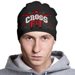 """Шапка классическая унисекс """"CROSSFIT"""" - gym, спортзал, crossfit, кроссфит, тренинг"""