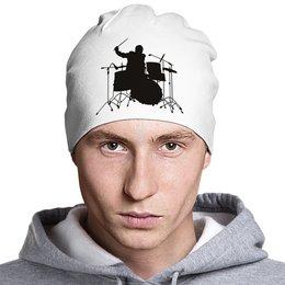 """Шапка классическая унисекс """"Drums"""" - music, metal, rock, drums, день рождения"""