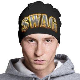 """Шапка классическая унисекс """"Swag Art"""" - swag, надпись, свэг, арт дизайн"""