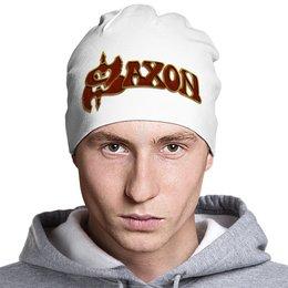 "Шапка классическая унисекс ""Saxon Band"" - heavy metal, рок музыка, рок группа, saxon, саксон"