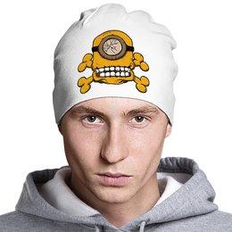 """Шапка классическая унисекс """"Skull Minion"""" - skull, череп, миньоны, миньон, minion"""
