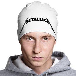 "Шапка классическая унисекс ""Metallica"" - music, metal, rock, metallica, rock and roll"