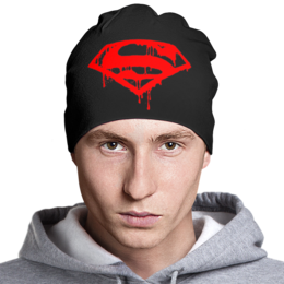 """Шапка """"Superman"""" - супермен, комиксы, superman, эмблема"""
