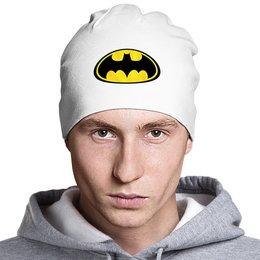 """Шапка классическая унисекс """"Batman"""" - комиксы, batman, эмблема, бэтмэн, марвел"""