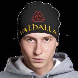 "Шапка классическая унисекс ""Valhalla"" - арт, викинг, вальхалла, путь воина, valhalla"