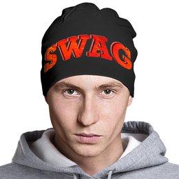 """Шапка классическая унисекс """"Swag Art"""" - надпись, swag, свэг, арт дизайн"""