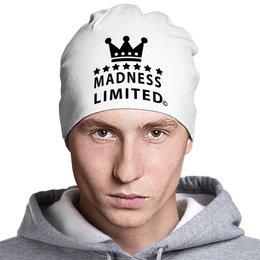 """Шапка классическая унисекс """"Madness"""" - skull, череп, корона, crown"""