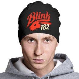 """Шапка классическая унисекс """"Blink-182"""" - punk, панк, группы, blink-182, blink 182"""