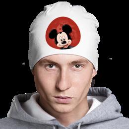 """Шапка классическая унисекс """"Микки Маус мультяшный герой"""" - микки маус, мультяшка, mikki maus, мышонок микки, мультипликационный герой"""