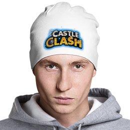 """Шапка классическая унисекс """"Шапка с логотипом Castle Clash"""" - castle clash, битва замков"""
