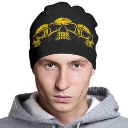 "Шапка классическая унисекс ""Skull Art"" - skull, череп, черепа, skulls, арт дизайн"