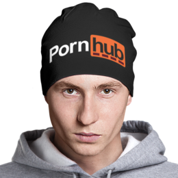 """Шапка классическая унисекс """"PornHub"""" - porn, порно, pornhub"""