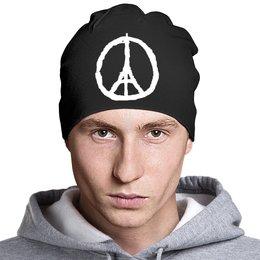 """Шапка классическая унисекс """"Париж"""" - мир, франция, пацифик, солидарность"""
