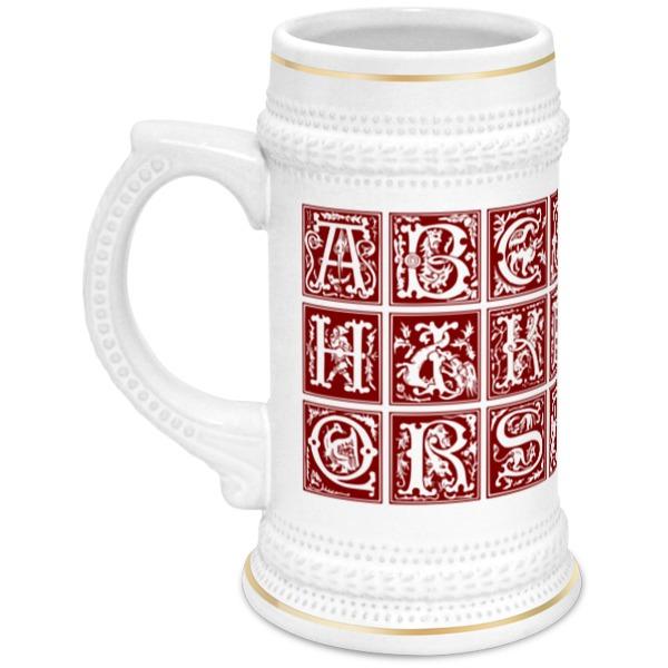 Кружка пивная Printio Декоративный латинский алфавит xvi века анатомия человека русско латинский атлас