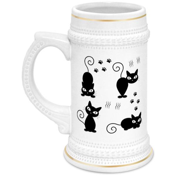 Кружка пивная Printio Котята полуперсидские котята в москве