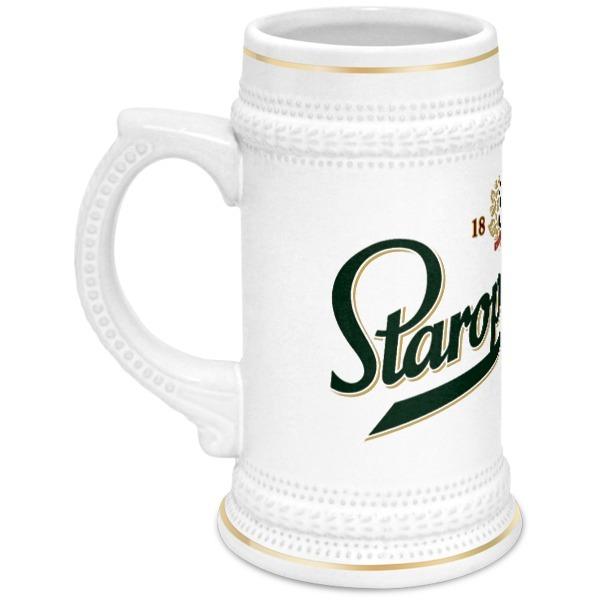 Printio Staropramen пивная кружка 18 см 750 мл русские подарки пивная кружка 18 см 750 мл