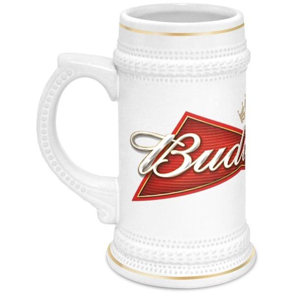 Кружка пивная Printio Budweiser кружки экспедиция пивная кружка литрбол 1 литр
